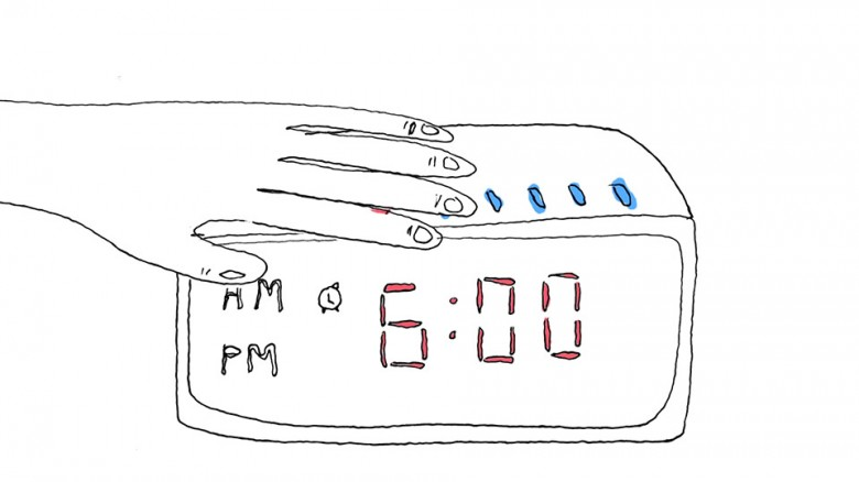 Bannana, Fork, Alarm Clock
